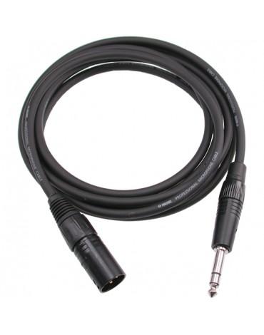 Câble XLR Mâle / Jack TRS 6.35